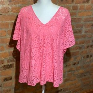 Rachel Roy plus size lace top New size 2x